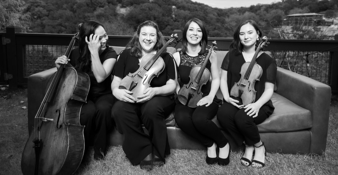The Sienna String Quartet, wedding and event musicians.